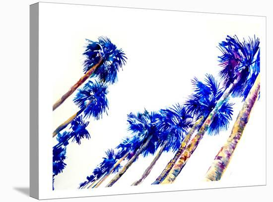 Blue Palms-Suren Nersisyan-Stretched Canvas Print
