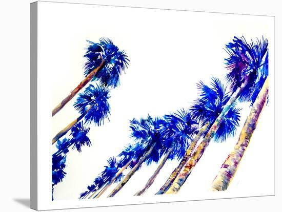 Blue Palms-Suren Nersisyan-Stretched Canvas Print
