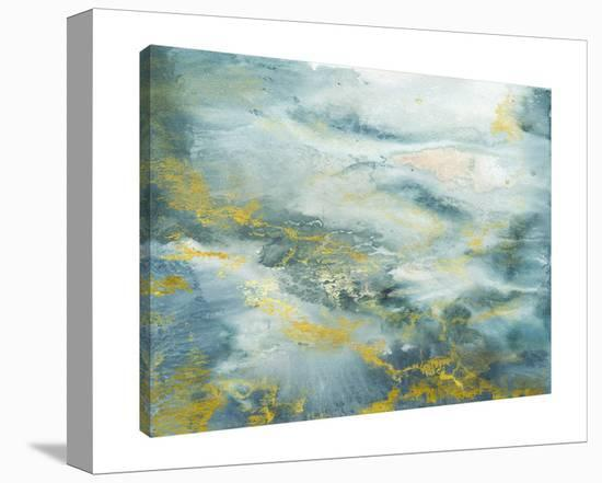 Blue Watercolor Abstract-Tre Sorelle Studios-Gallery Wrapped Canvas