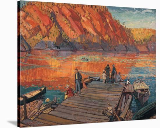 Bon Echo-Arthur Lismer-Stretched Canvas Print