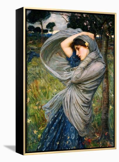 Boreas-John William Waterhouse-Framed Canvas Print