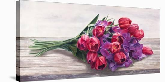 Bouquet-Cristina Mavaracchio-Stretched Canvas Print