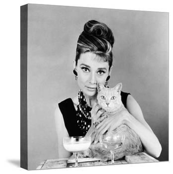 Breakfast at Tiffany's, Audrey Hepburn, 1961-null-Stretched Canvas