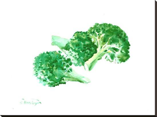 Broccoli-Suren Nersisyan-Stretched Canvas Print