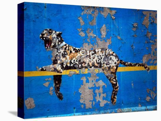 Bronx Zoo-Banksy-Stretched Canvas Print