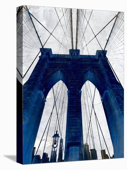 Brooklyn Bridge Blue--Stretched Canvas Print
