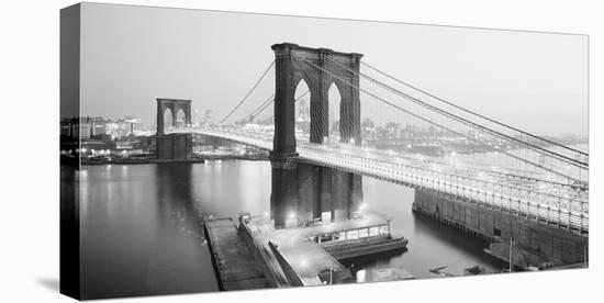 Brooklyn Bridge from Manhattan side, NYC--Stretched Canvas Print