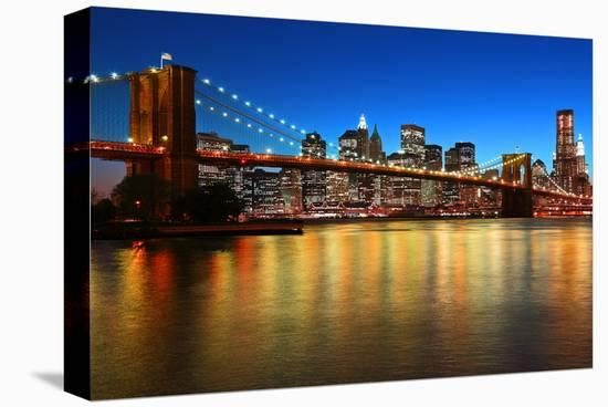 Brooklyn Bridge LowerManhattan--Stretched Canvas Print