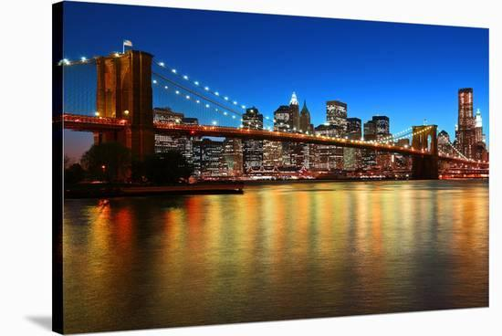 Brooklyn Bridge LowerManhattan--Stretched Canvas Print