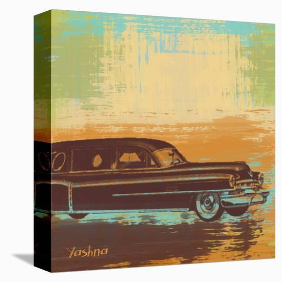 Brown Retro Car I-Yashna-Stretched Canvas Print