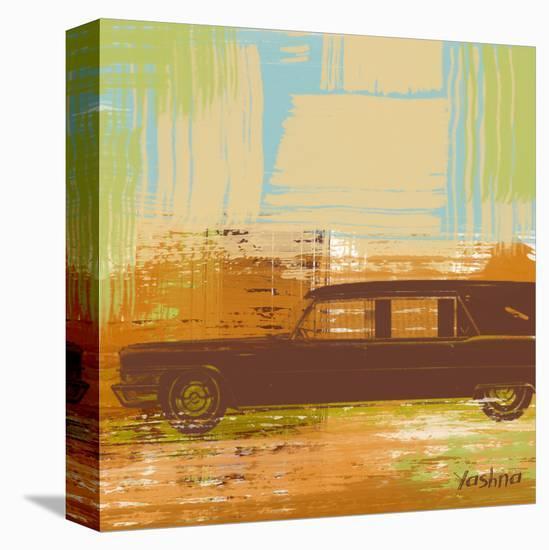 Brown Retro Car II-Yashna-Stretched Canvas Print