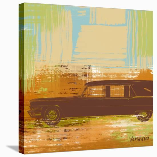 Brown Retro Car II-Yashna-Stretched Canvas Print