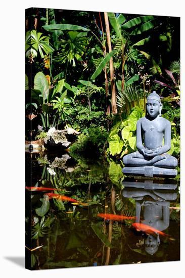 Buddha Garden-Jan Michael Ringlever-Stretched Canvas Print