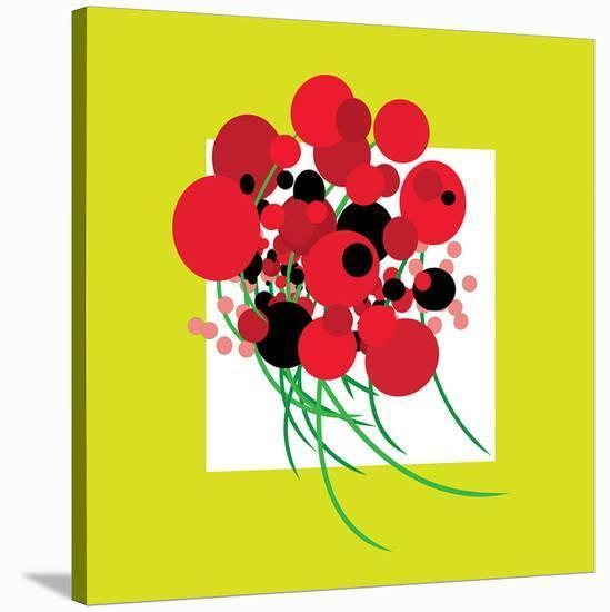 Burstin' Bouquet--Stretched Canvas Print