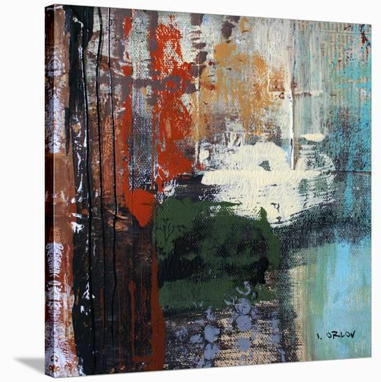 Busy Urban City-Irena Orlov-Stretched Canvas Print