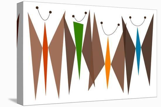 Butterflies - Browns-Tonya Newton-Stretched Canvas Print