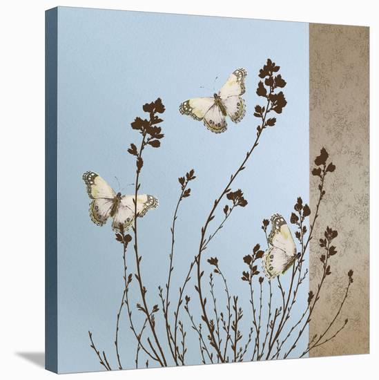 Butterflies-Caroline Gold-Stretched Canvas Print