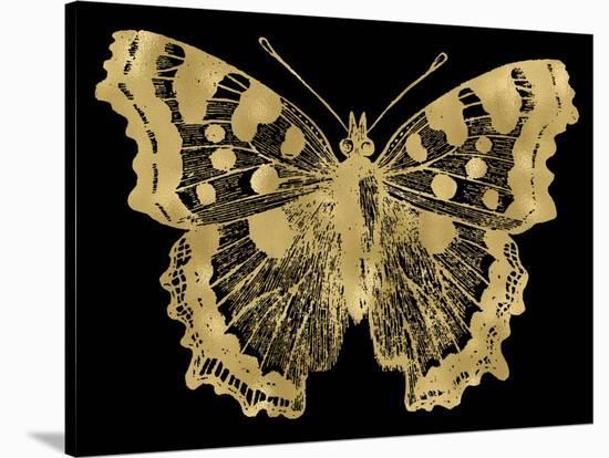 Butterfly 1 Golden Black-Amy Brinkman-Stretched Canvas Print