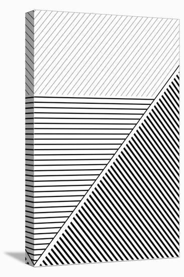 BW Geo Lines 2-Urban Epiphany-Stretched Canvas Print