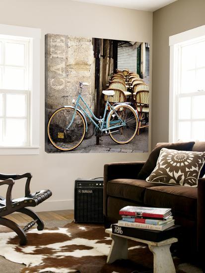 Cafe Bicycle - 16x16 FB-Marc Olivier-Loft Art