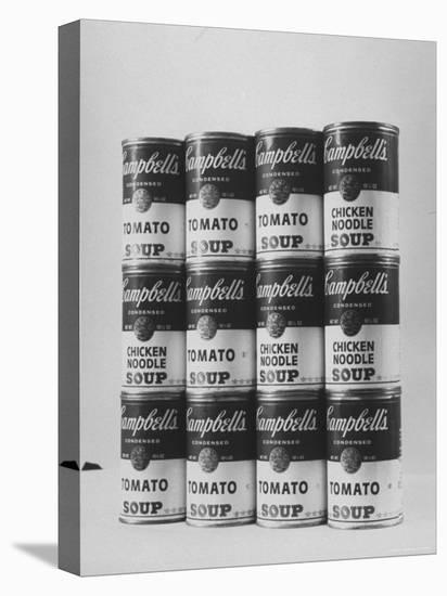 Campbell's Soup Cans Being Used as Example of Pop Culture-Yale Joel-Stretched Canvas Print