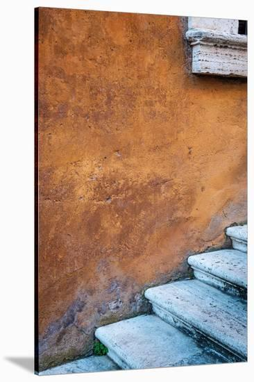 Capitoline Hill Steps-Alan Copson-Stretched Canvas Print