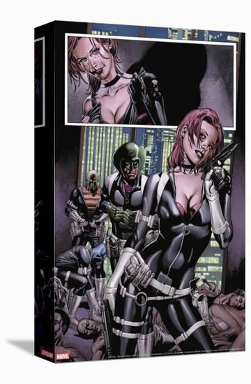 Captain America No.28 Group: Sin, Cobra, Eel and Viper-Steve Epting-Stretched Canvas Print