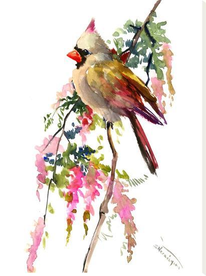 Cardinal 2-Suren Nersisyan-Stretched Canvas Print
