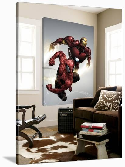 Carnage No.1 Cover: Spider-Man and Iron Man Flying-Clayton Henry-Loft Art