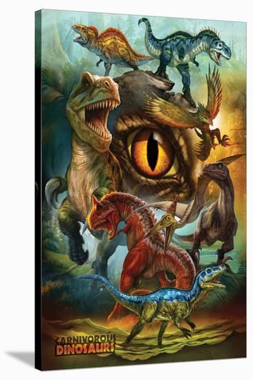 Carnivorous Dinosaurs--Stretched Canvas Print