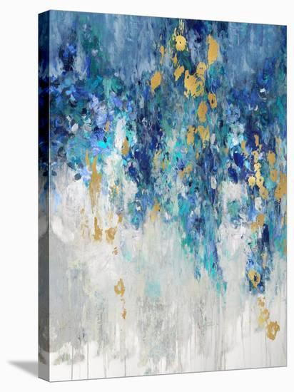 Cascading Blues I--Stretched Canvas Print