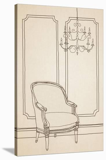 Chair Foyer II-Irena Orlov-Stretched Canvas Print