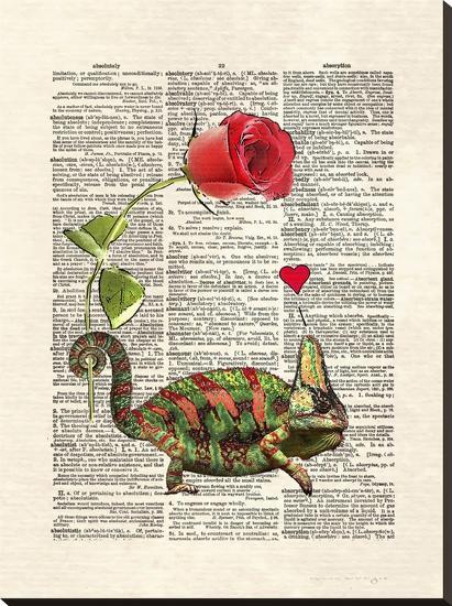 Chameleon Love-Matt Dinniman-Stretched Canvas Print