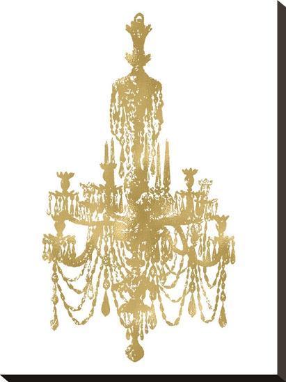 Chandelier Golden White-Amy Brinkman-Stretched Canvas Print