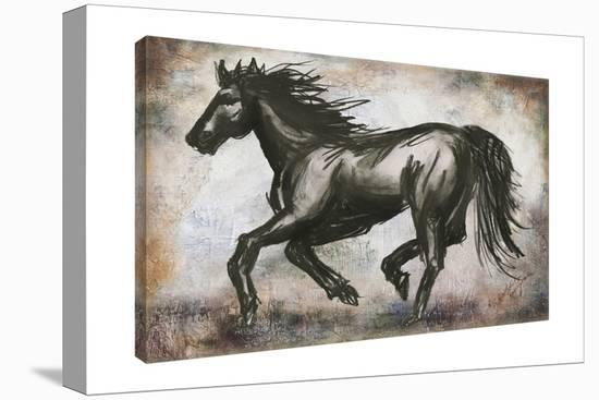 Charcoal Horse-Tre Sorelle Studios-Gallery Wrapped Canvas