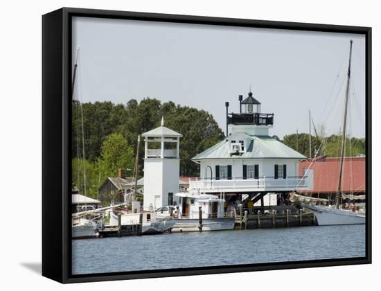 Chesapeake Bay Maritime Museum, Miles River, Chesapeake Bay Area, Maryland, USA-Robert Harding-Framed Canvas Print