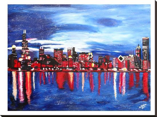 Chicago 1-M Bleichner-Stretched Canvas Print