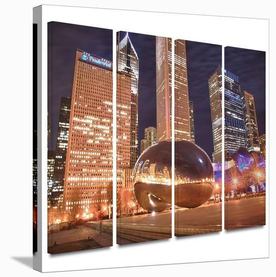 Chicago- The Bean I 4 piece gallery-wrapped canvas-Dan Wilson-Gallery Wrapped Canvas Set