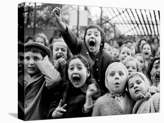 Children at a Puppet Theatre, Paris, 1963-Alfred Eisenstaedt-Stretched Canvas Print