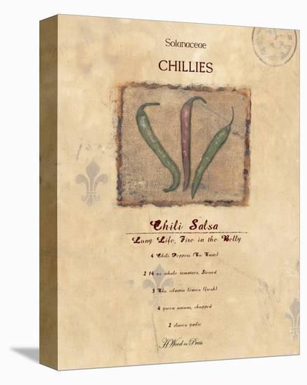 Chili Salsa-Wood-Stretched Canvas Print