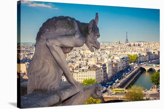 Chimera Notre Dame-Paris--Stretched Canvas Print
