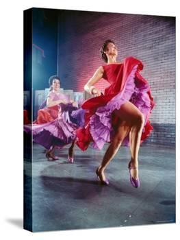 Chita Rivera and Liane Plane Dancing in a Scene from the Broadway Production of West Side Story-Hank Walker-Premier Image Canvas