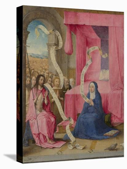 Christ Appearing to the Virgin with the Redeemed of the Old Testament, C. 1500-Juan de Flandes-Premier Image Canvas