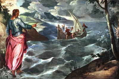 Christ at the Sea of Galilee, C1575-1580-Jacopo Tintoretto-Stretched Canvas Print