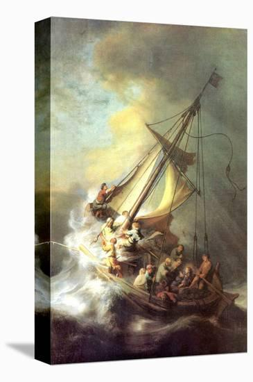 Christ in the Storm on the Lake of Galilea-Rembrandt van Rijn-Stretched Canvas