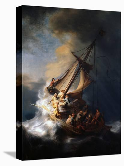 Christ in the Storm on the Lake of Galilee, 1633-Rembrandt van Rijn-Premier Image Canvas