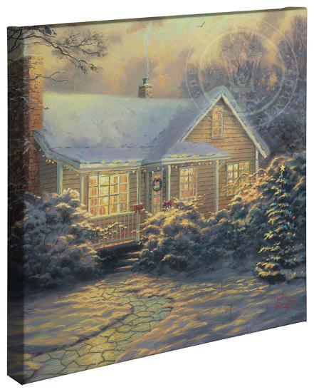 Christmas Cottage Gallery Wrapped Canvas Thomas Kinkade Art Com