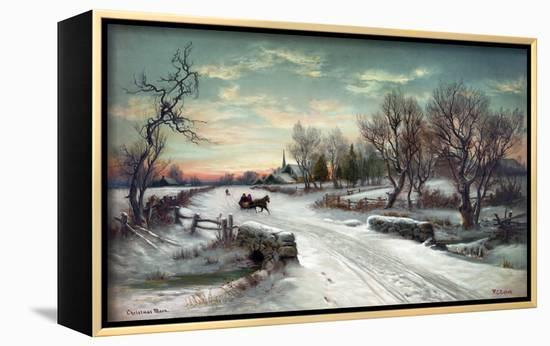 Christmas Morn, C1885-W^C^ Bauer-Framed Canvas Print