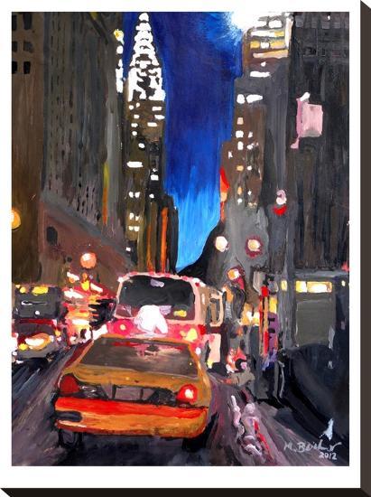 Chrysler Street Scene2-M Bleichner-Stretched Canvas Print