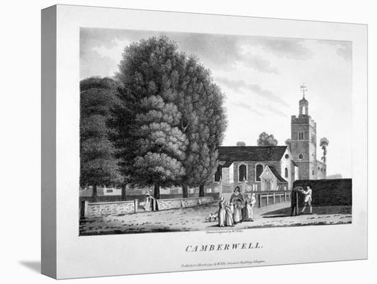Church of St Giles, Camberwell, London, 1792-William Ellis-Stretched Canvas Print